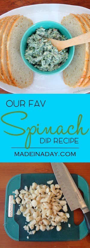 Our Fav Spinach Dip Recipe, Who doesn't love a good Spinach Dip? Well it is so easy to make when you use my favorite mix! Save the recipe for you next get together! Tailgate recipe, easy dip recipe, best appetizer! See the recipe on madeinaday.com