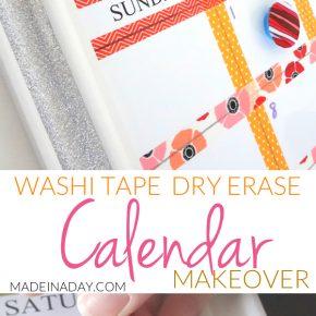 Washi Tape Dry Erase Calendar 1