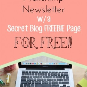 Setting up a Newsletter with Freebies for Free 1