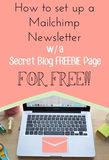 mailchimp newsletter w: secret freebie blog page for free madeinday.com