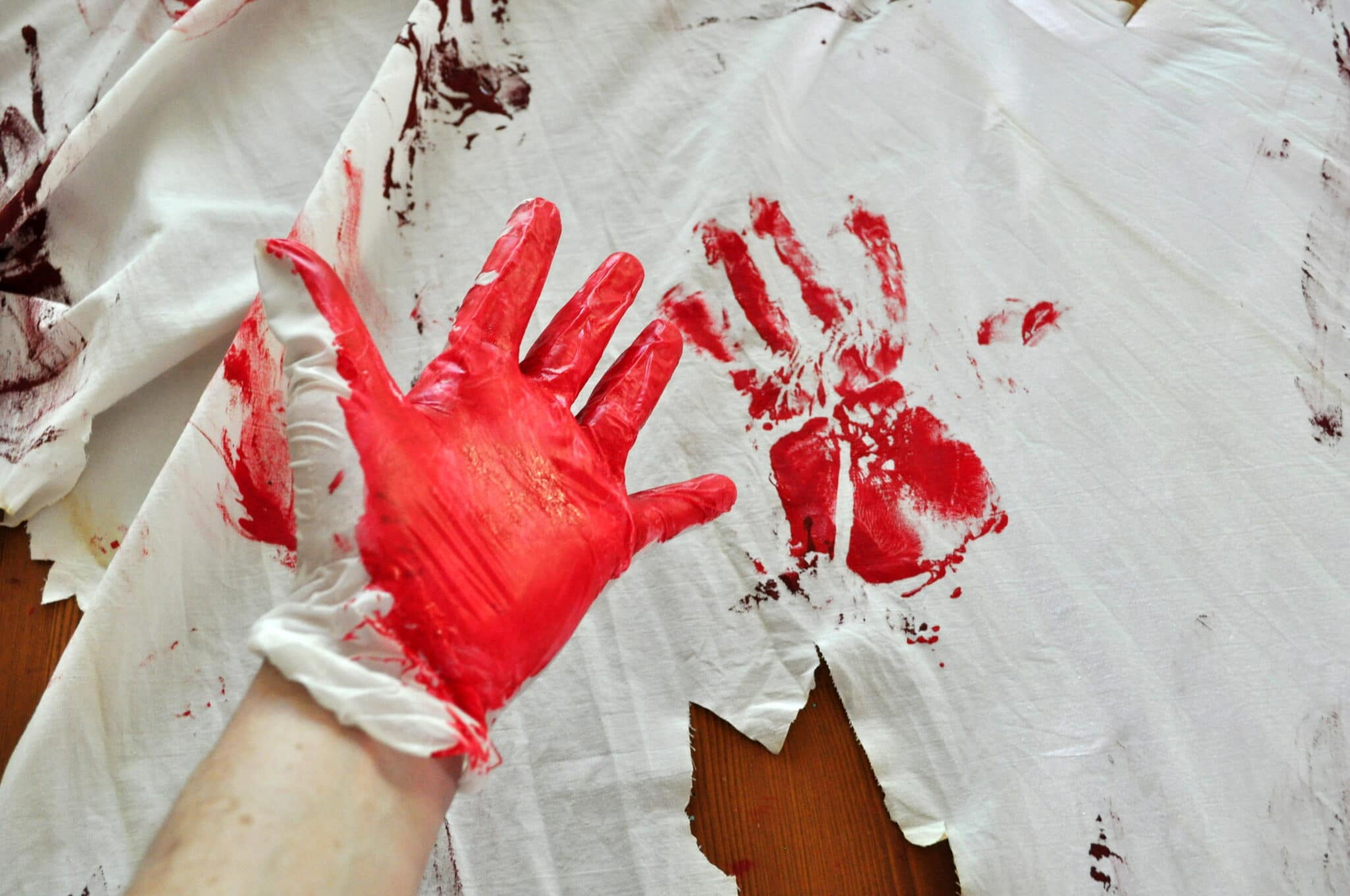 Blood Spatter Sheets Curtains