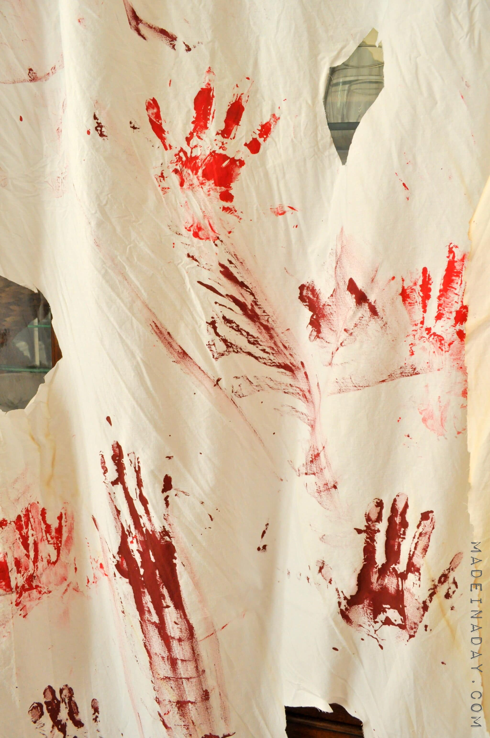 DIY Blood Stain Drapes