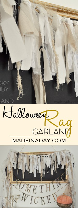 Spooky Shabby Rag Garland 32