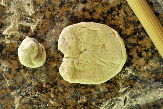 Shape dough into skelelton