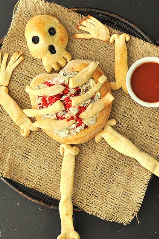 Horrifying Skeleton Bread Bone Breadsticks