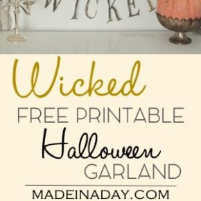 Charming Something Wicked Garland FREE Printable 1