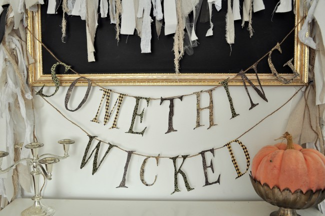 Something Wicked Halloween Printable Garland