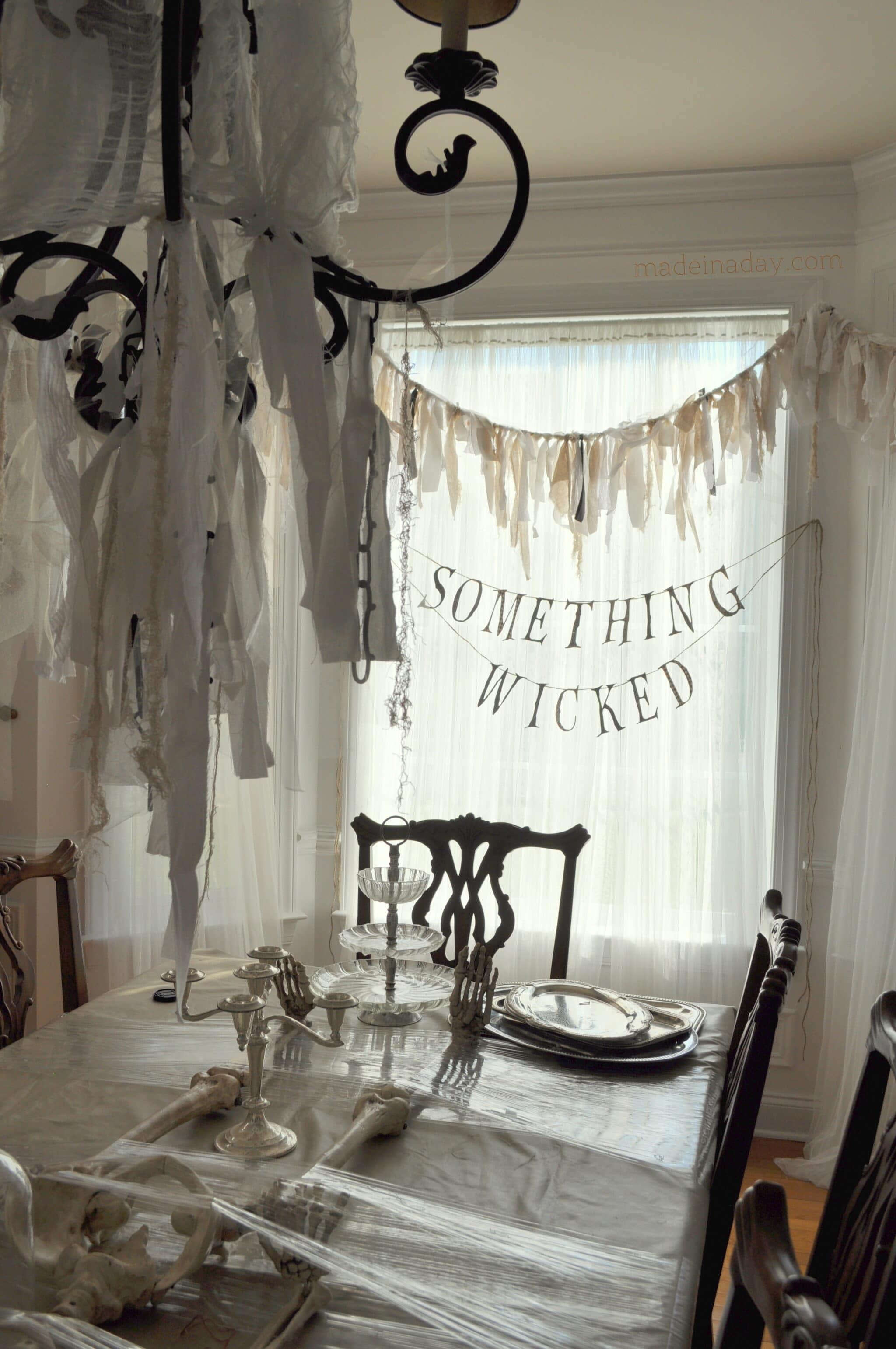 Something Wicked Halloween Rag Banner