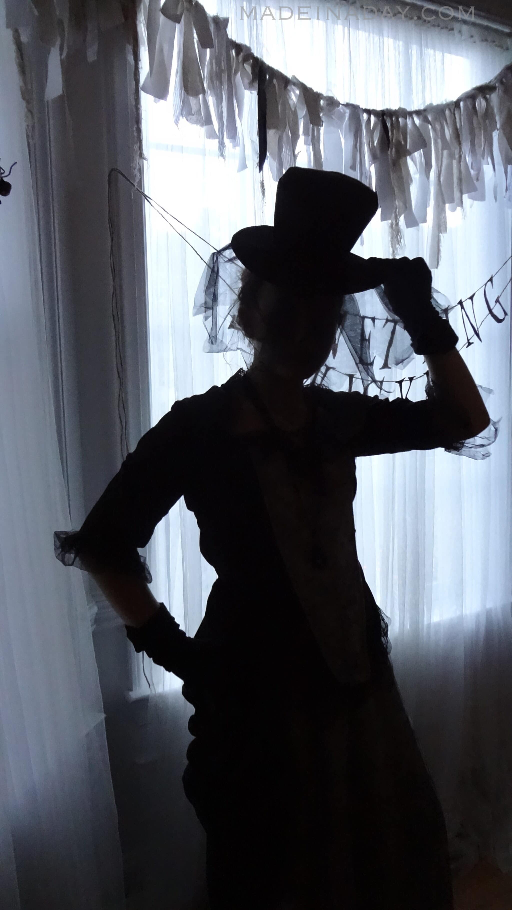 Spooky Silhouette Halloween Costume madeinaday.com