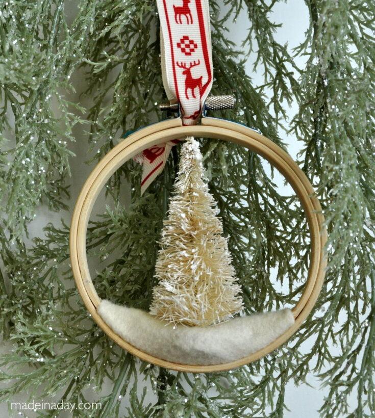 Simple Evergreen Sprig Polymer Clay Ornament 13