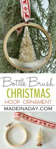 Bottle Brush Tree Embroidery Hoop Ornament 1