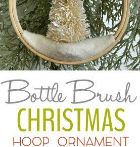 Bottle Brush Tree Embroidery Hoop Ornament 31