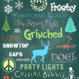 Christmas Holiday Fonts & Dingbats
