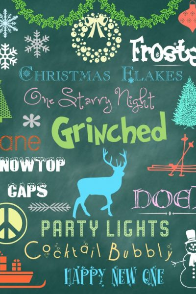 Winter Holiday Fonts Dingbats