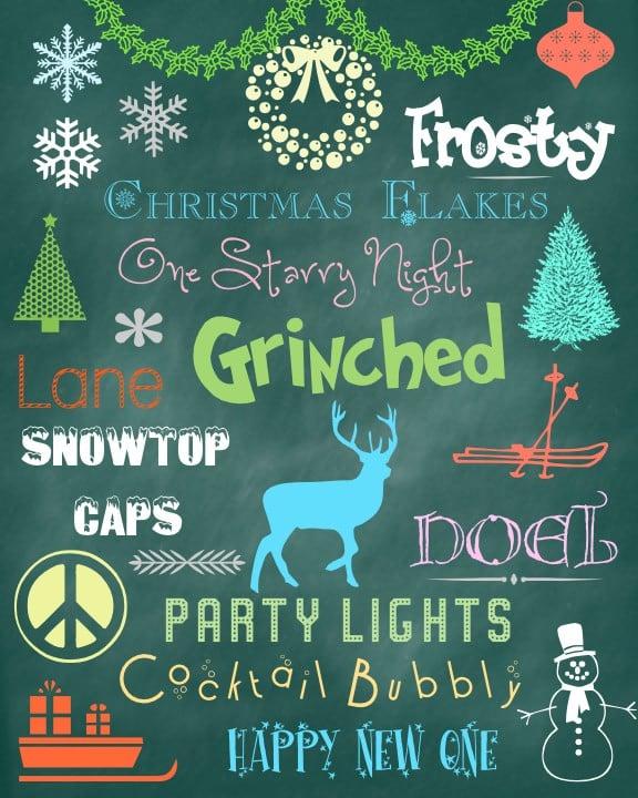 Christmas Holiday Fonts & Dingbats