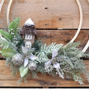 Winter Holiday Woodland Wreath 1