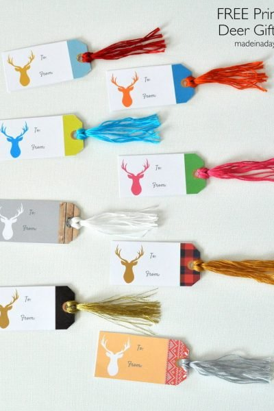 Deer Gift Tags FREE Printable
