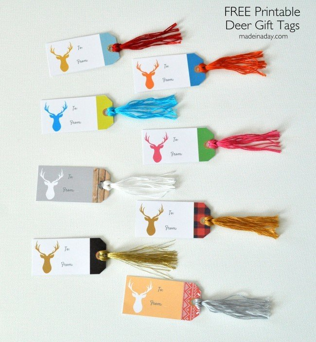 Deer Gift Tags Christmas Holiday FREE Printable