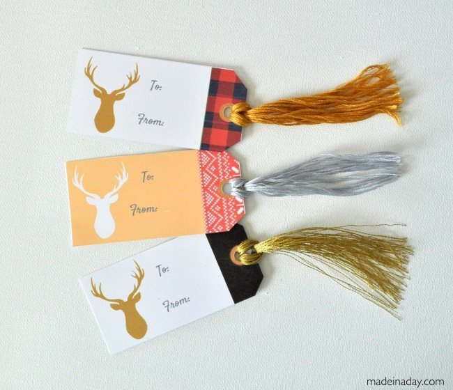 Deer Gift Tags madeinaday.com