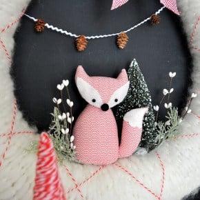 Fox Yarn Argyle Wreath
