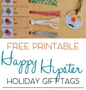 Hipster Holiday Free Printable Gift Tags 1