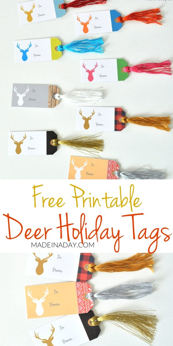 Deer Gift Tags FREE Printable 32