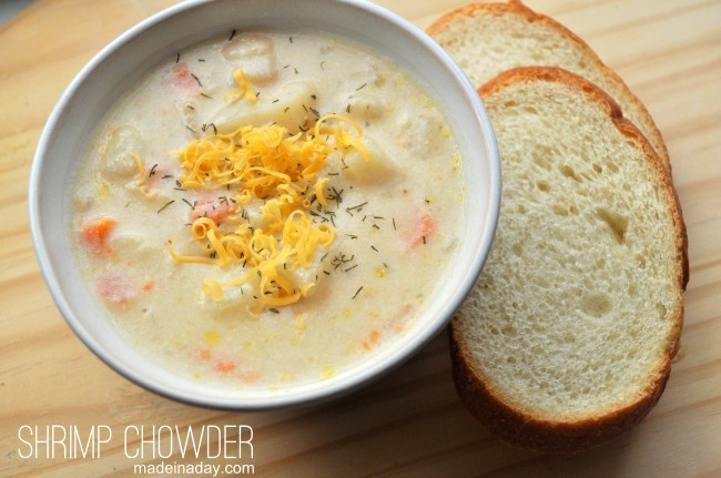 Shrimp Chowder madeinaday.com