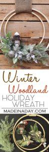 Winter Holiday Woodland Wreath 1