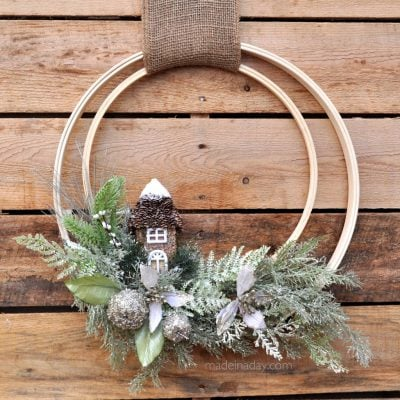 Winter Holiday Woodland Wreath