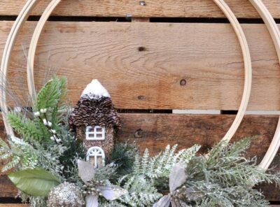 Winter Holiday Woodland Wreath