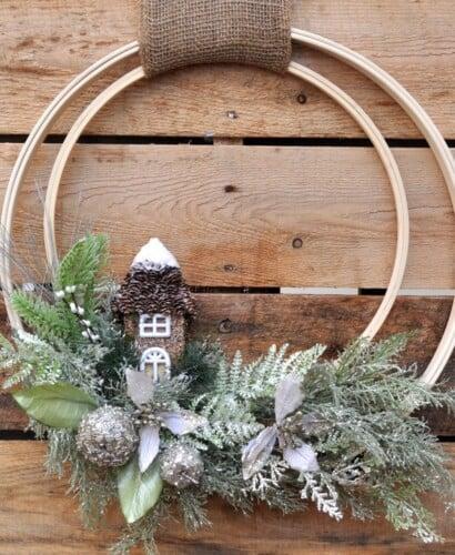 Winter Holiday Woodland Wreath 2