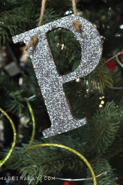 Glitter Alphabet Ornament