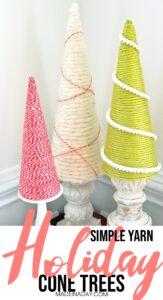 Holiday Yarn Trees 1