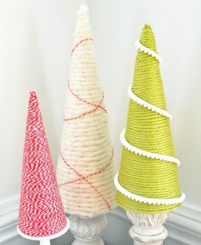 Holiday Yarn Trees 31