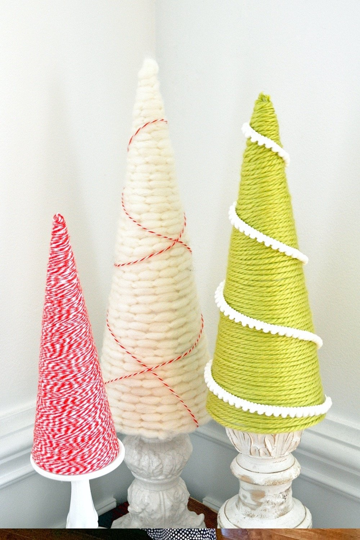 Holiday Yarn Trees