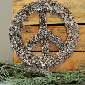 DIY Pine Cone Peace Sign PB knockoff