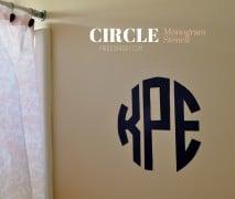 DIY Round Circle Monogram Stencil madeinaday.com