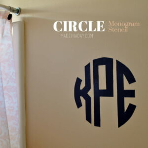 DIY Round Circle Monogram Stencil madeinaday.com