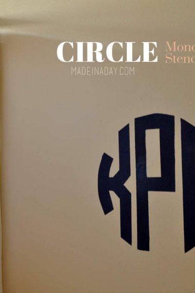 Circle Monogram Stencil