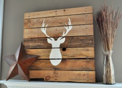 Deer Head Pallet madeinaday.com