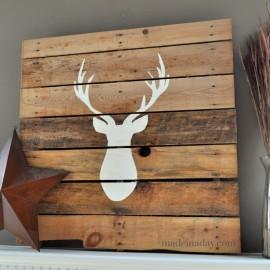 Deer Head Pallet madeinaday.com