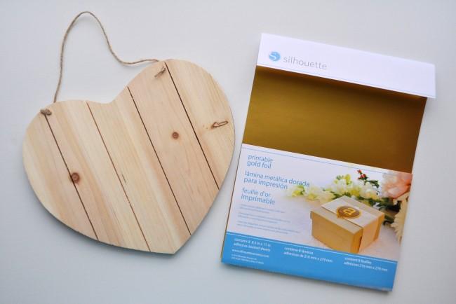 Easy Kid Valentine Craft Heart Pallet Gold foil
