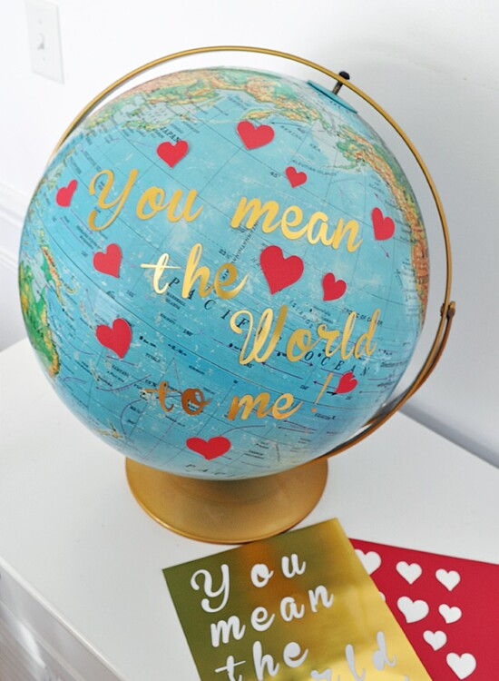 You Mean the World to Me Globe Valentine 6