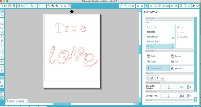 Heart Pallet Gold Foil Letters on Silhouette Cameo