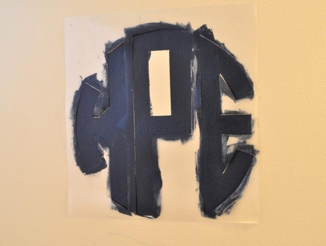Paint Round Monogram Stencil