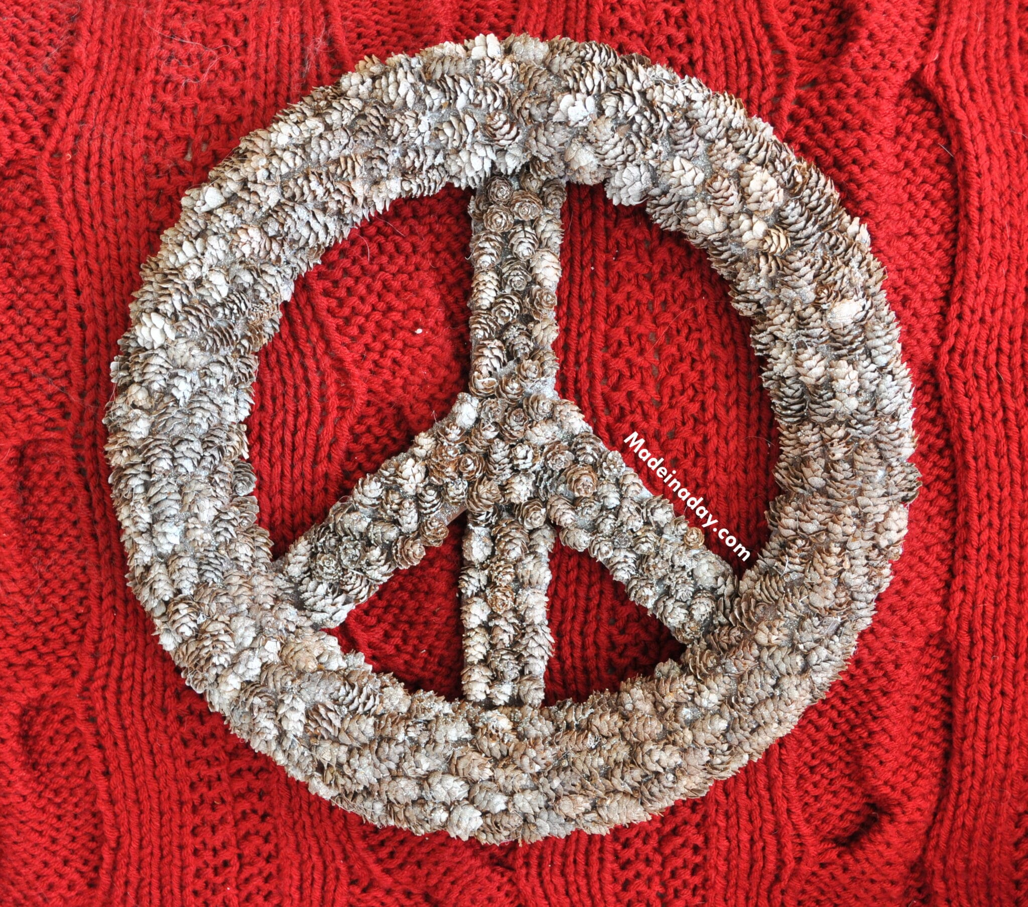 Peace Christmas Sign.Pine Cone Peace Sign Pb Hack