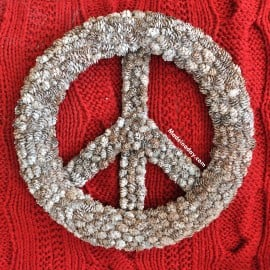Pine Cone Peace Sign Wreath PB Hack