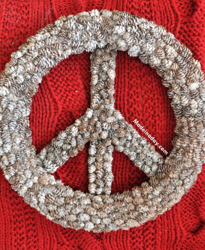 Frosted Pine Cone Peace Sign PB Hack 31