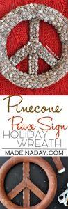 Pine Cone Peace Sign PB Hack 1