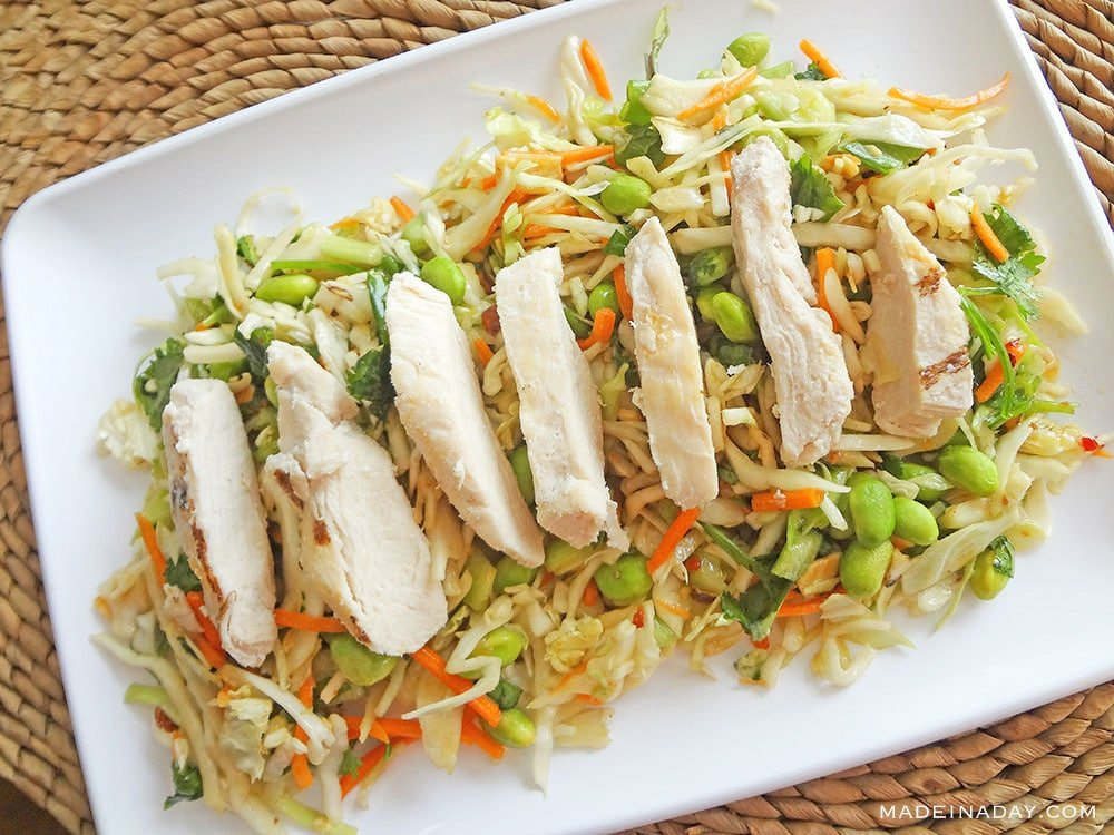 Super Easy Asian Slaw with Ginger Dressing 2